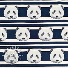 Jersey Panda stripes dark blue