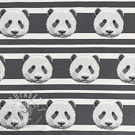 Jersey Panda stripes grey