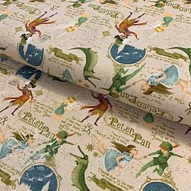 Jersey Peter Pan beige digital print