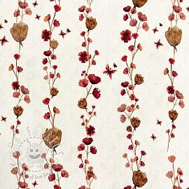 Jersey pointoille Amor aqua little flowers digital print