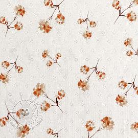 Jersey pointoille Amor Flowers digital print
