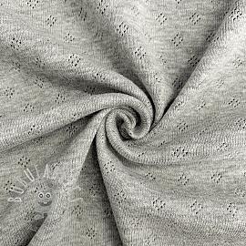Jersey pointoille grey melange