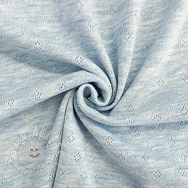 Jersey pointoille light blue melange