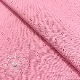Jersey pointoille MINI rose