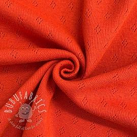Jersey pointoille orange