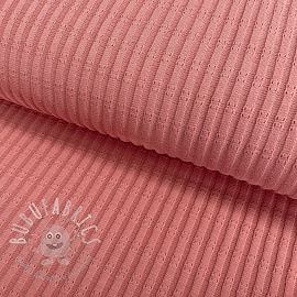 Jersey pointoille RIB old rose
