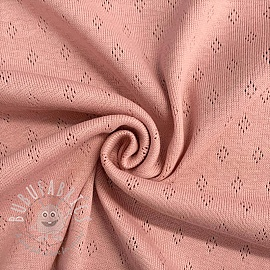 Jersey pointoille rose