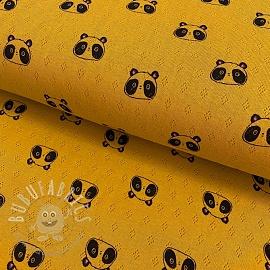 Jersey pointoille Sweet panda mustard