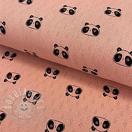 Jersey pointoille Sweet panda rose
