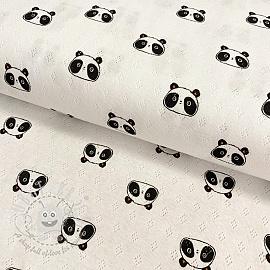 Jersey pointoille Sweet panda white
