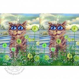 Jersey Psycho river cat digital print panel