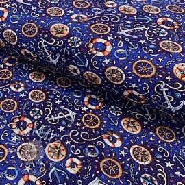 Jersey Say AHOY party blue digital print