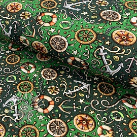Jersey Say AHOY party green digital print