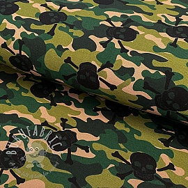 Jersey Skull camouflage dark green digital print