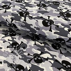 Jersey Skull camouflage grey digital print