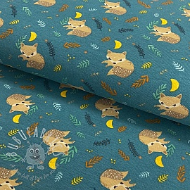 Jersey Sleeping baby fox digital print