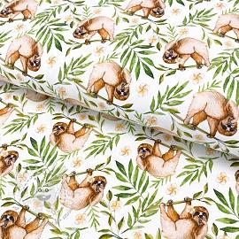 Jersey Snoozy Sloth digital print