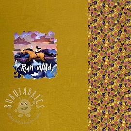 Jersey SPIRIT ochre digital print panel 2nd class