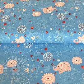 Jersey Sweet elephant light blue