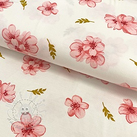 Jersey TENCEL modal Cherry blossom white