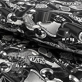 Jersey Urban grey digital print