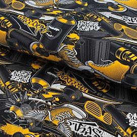 Jersey Urban yellow digital print
