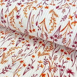 Jersey Waffle Little flower orange digital print