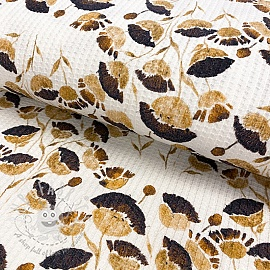 Jersey Waffle Snoozy Paula blossom digital print