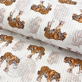 Jersey Waffle Tiger digital print