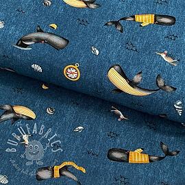 Jersey Whale jeans digital print