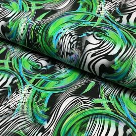 Jersey Zebra bubble green digital print