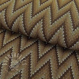 Jersey Zigzag pattern mustard