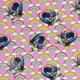 Jersey BIO Trolls Poppy rainbow digital print