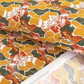 Jogging sweat Jurassic world mosaic ochre