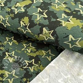 Jogging sweat soft Camouflage stars dark green
