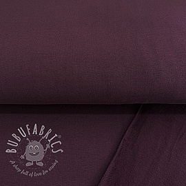 Jogging sweat soft GOTS aubergine