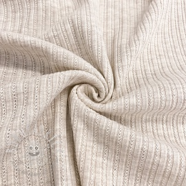 Knitted Cotton ecru melange