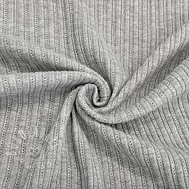 Knitted Cotton grey melange
