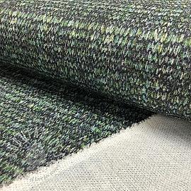 Knitted jersey LUREX Knit green