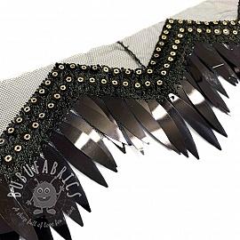 Lace tulle Burlesque zigzag black