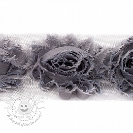 Lace tulle Rose grey