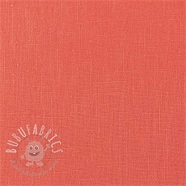 Linen enzyme washed coral