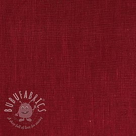 Linen enzyme washed dark red