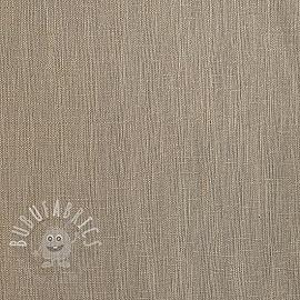Linen enzyme washed light sand