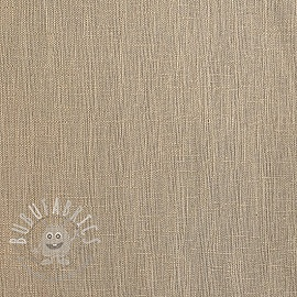 Linen enzyme washed light sand