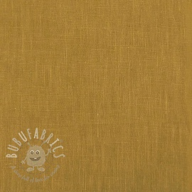 Linen enzyme washed ochre