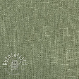 Linen enzyme washed old green