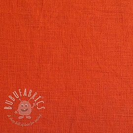 Linen enzyme washed orange