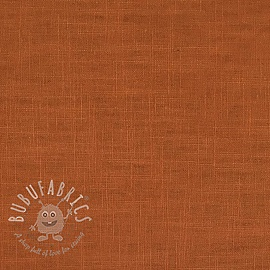 Linen enzyme washed rust