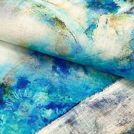 Linen viscose Blue sky digital print
